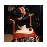 A Geisha in Traditional Dress and Make-Up Giclee Print