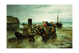 Hauling a Ship, 1887 Giclee Print by Henry Bacon