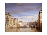 A View of the Grand Canal Venice, from the Palazzo Bernardo Looking Towards the Rialto Bridge Giclee Print by Richard Parkes Bonington