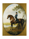 Portrait of Warren Hastings, Small Full Length, on His Celebrated Arabian, Wearing a Blue Coat… Giclee Print by George Stubbs