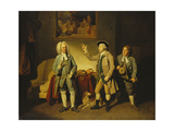 A Scene from 'Love in a Village' by Isaac Bickerstaffe, Act 1, Scene 2, with Edward Shuter as… Giclee Print by Johann Zoffany