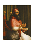Portrait of Pope Clement Vii, Seated Three-Quarter Length Giclee Print by Giuliano Bugiardini