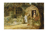 Elegant Conversation Giclee Print by Henry John Yeend King
