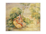 Girls in a Garden; Fillettes Dans Un Jardin, C. 1895 Giclee Print by Pierre-Auguste Renoir