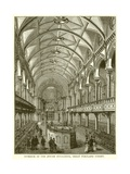 Interior of the Jewish Synagogue, Great Portland Street Giclee Print