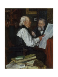 Discussing the News: the Argument, 1891 Giclee Print by Louis Charles Moeller