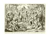 Germanicus Buries the Bones of the Roman Killed in the Battle Against Hermann Giclee Print