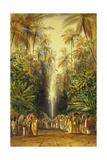 Figures on a Road Near Galle, Ceylon Giclée-Druck von Edward Lear