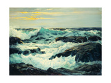 Surf and Headlands Giclee Print by Frederick Judd Waugh