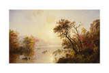 Rowing Out of a Cove, 1878 Giclee Print by Jasper Francis Cropsey