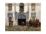 Le garde du palais Reproduction procédé giclée par Alberto Pasini