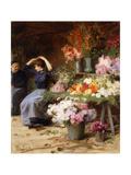 Flower Power; Marchande De Fleurs Giclee Print by Victor Gabriel Gilbert