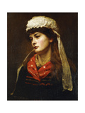 A Newlyn Lass, 1889 Giclee Print by Thomas Cooper Gotch