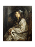 Girl Seated in a Chair Giclee Print by James Jebusa Shannon