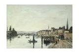 Rouen; La Seine Et Le Pont Corneill, 1895 Giclee Print by Eugène Boudin
