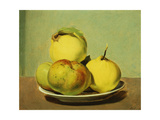 Dish of Apples and Quinces Giclee Print by David Johnson