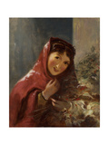 Lady Carrying Holly Branches, 1850 Giclee Print by Thomas Sully