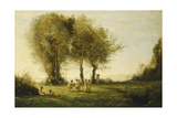 Round of Love; Sunrise; Ronde D'Amours; Lever Du Soleil, C.1854-55 Giclee Print by Jean-Baptiste-Camille Corot
