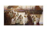 Rogation Day, Cornwall Giclee Print by William Holt Yates Titcomb