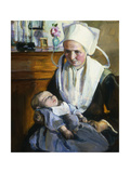 The Sleeping Child; L'Enfant Qui Dort Giclee Print by Elizabeth Nourse
