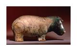 Statuette of Hippopotamus from a Burial, with Depictions of Marsh Plants on His Body Giclee Print