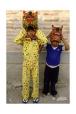 Two Boys Dressed as Jaguars, in a Fertility and Rain Making Festival Dating from the… Giclee Print