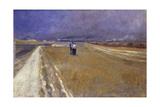 Walk Beside Railway; Promenade a Cote Du Chemin De Fer Giclee Print by Théophile Alexandre Steinlen