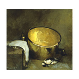 Still Life with Brass Pot Giclee Print by Emil Carlsen