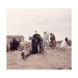 Dogon Farmers and their Animals Country of Origin: Mali Giclee Print