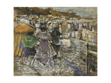 On the Beach; Bank Holiday Giclee Print by James Kay