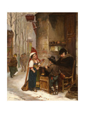 The Chestnut Vendor, 1870 Giclee Print by Henry Bacon