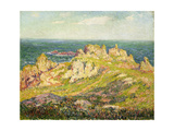Rocks by the Sea; Rochers Au Bord De La Mer Giclee Print by Henry Moret