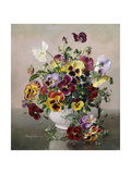A Still Life with Pansies Giclee Print by Albert Williams