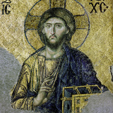 This Mosaic of the Enthroned Christ Is in the South Gallery of the Hagia Sophia, Istanbul Giclee Print
