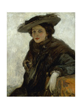 The Spanish Hat or Mrs. Gerard Chowne Giclee Print by Sir John Lavery