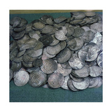Coins, Mainly Byzantine and Islamic - Part of Viking Treasure Found in Burials Which Illustrate… Giclee Print