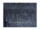 Relief with Hieroglyphs and Gods from the Naos of Apries at Sais Giclee Print