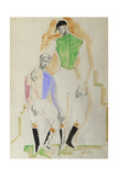 Two Jockeys Giclee Print by Christopher Wood