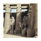 The First Courtyard with Statues of Ramesses II, Situated in Front of the Triple Barque Shrine… Giclee Print