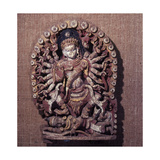 A Sculpture of the Goddess Kali, Who Is the Destructive Aspect of Devi (The Supreme Goddess) Giclee Print