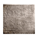 Stone Relief from the Palace of Ashurbanipal Giclee Print