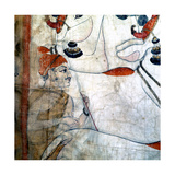 Detail of a Temple Cloth in Which Krishna Plays His Flute Among the Cows and Herdsmen with Whom… Giclee Print