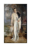 Portrait of Loelia, Duchess of Westminster, Later Lady Lindsay, Small Full Length, in Evening Dress Giclee Print by Glyn Warren Philpot
