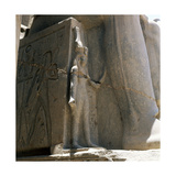 Base of a Statue of Ramesses II in Front of the Temple at Luxor Giclee Print
