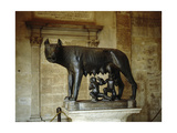A Statue of the She-Wolf of Rome Giclee Print
