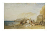 Hastings: Fish Market on the Sands, Early Morning, 1822 Giclee Print by J. M. W. Turner