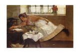 A Teatime Rest, 1892 Giclee Print by Albert Chevallier Tayler