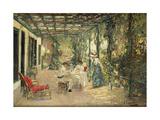 Breakfast on the Terrace Giclée-tryk af Sir John Lavery