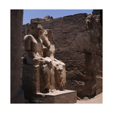 The Seated Double Statues of the Gods Amun and Mut, from the Processional Colonnade of Amenophis… Giclee Print