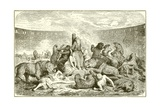 Christian Martyrs in the Arena Giclee Print by  English School